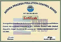 Certificate: Andhra Pradesh Pollution Control Board